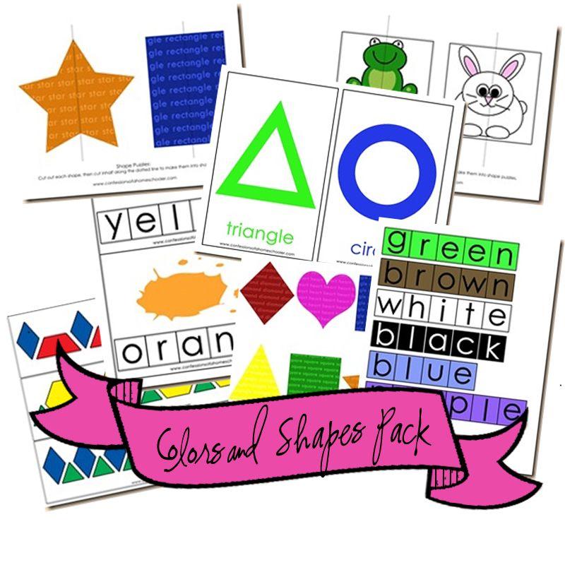 Colors And Shapes Mega Pack CLASSROOM PDF