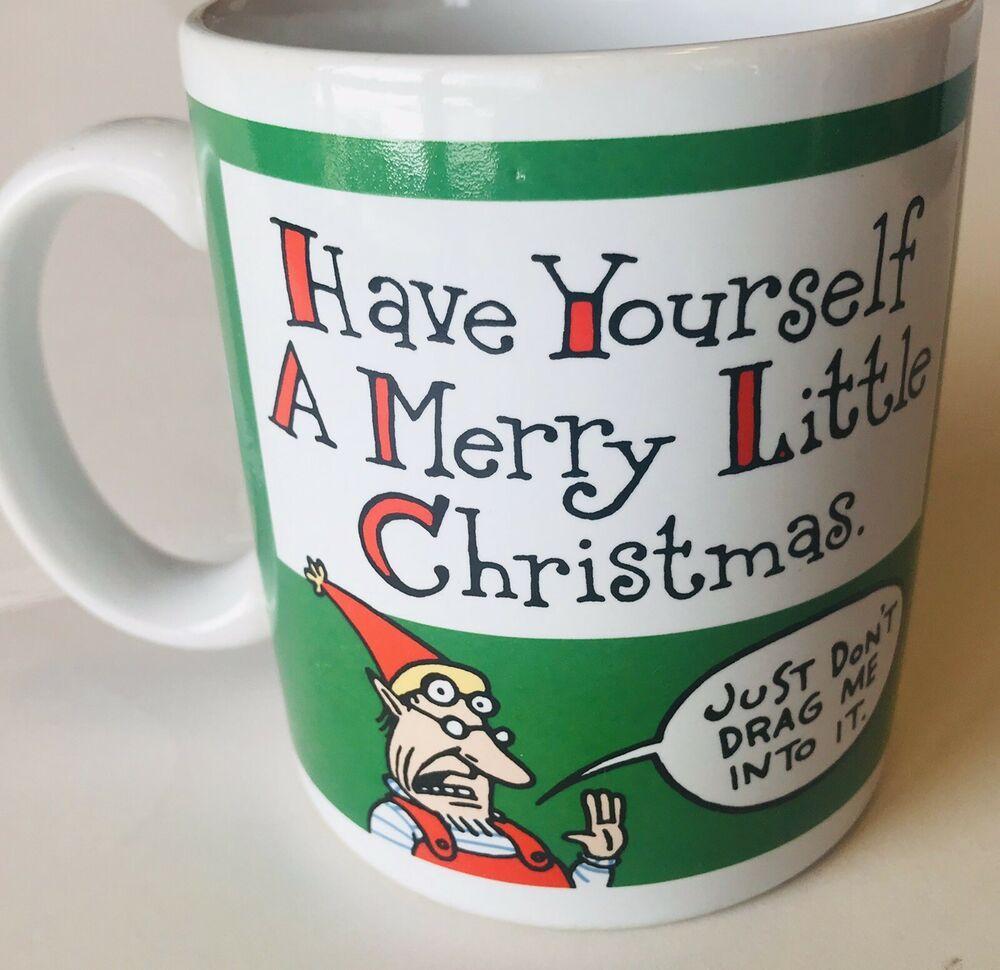 Shoebox Merry Little Christmas Coffee Mug Green Elf Hallmark Vintage Hallmark Christmas Coffee Merry Little Christmas Little Christmas