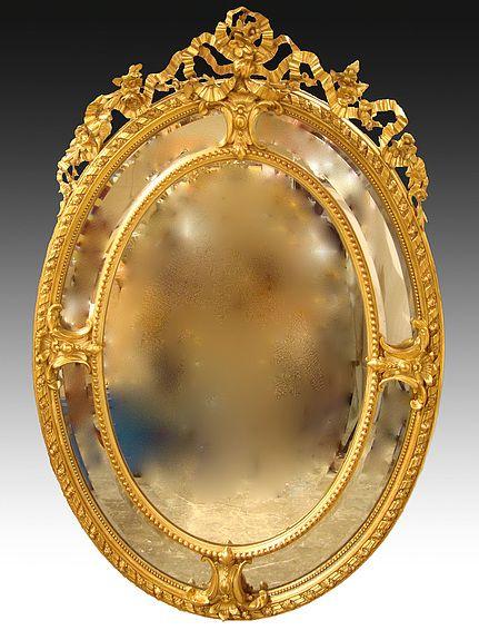Miroir dor pareclose d 39 poque napol on iii d coration for Miroir napoleon