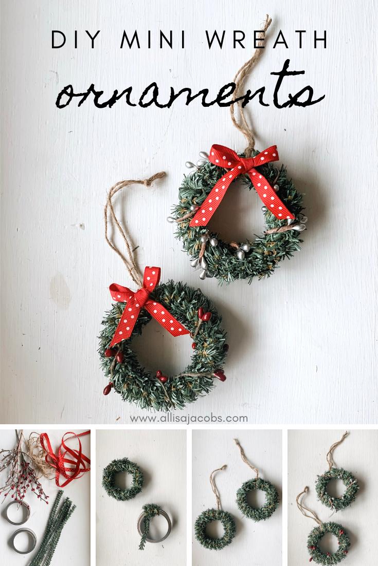 Diy Christmas Ornaments Easy Mini Wreaths Allisa Jacobs Diy Christmas Ornaments Easy Christmas Wreaths Diy Easy Mini Wreaths Diy Christmas