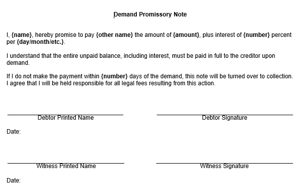 Doc600528 Sample Simple Promissory Note Promissory Note 21 – Promisory Note Example