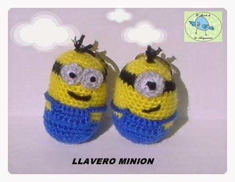 Patron Minion Amigurumi : Llavero minion amigurumi patrón gratis en español toys