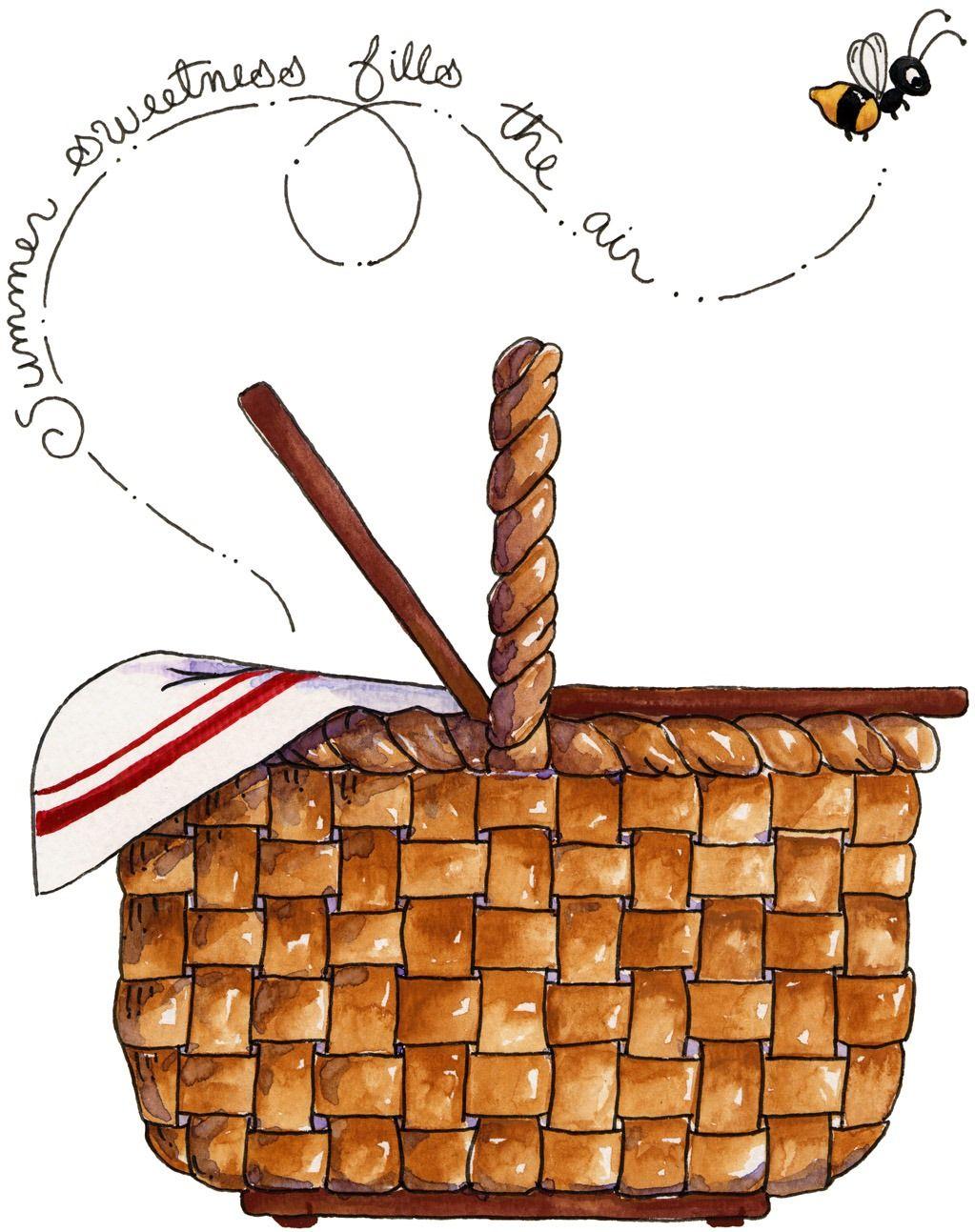 Imagem Decoupage Clipart Picnic Basket 4 Jpg Picnic Basket
