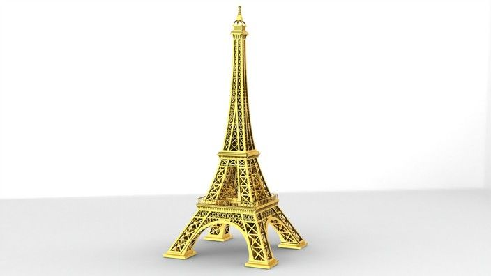 Eiffel tower Free STL file SolidWorks, STL for 3D, STEP