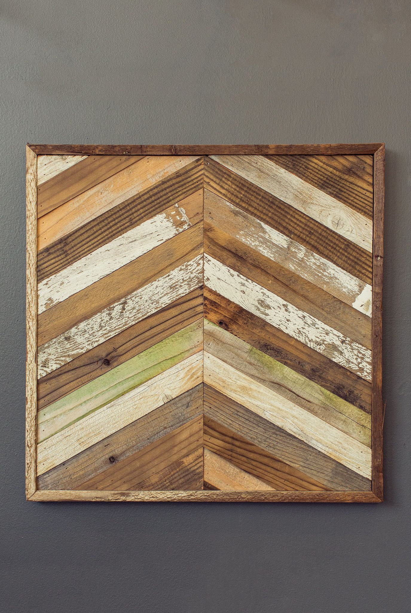 Reclaimed wood chevron panel lath pinterest woods wood panel