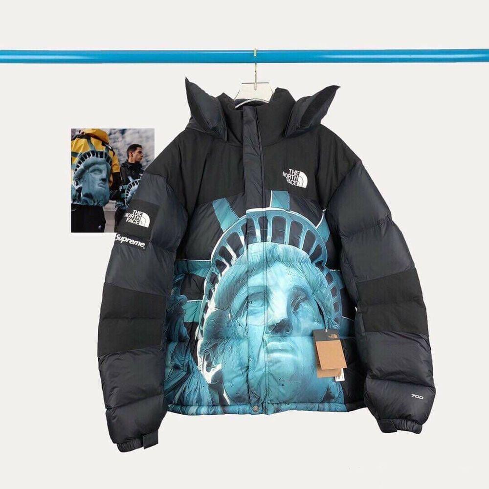Supreme X Tnfthe North Face Statue Of Liberty Baltoro Parka Jacket Size M L Xl In 2020 Parka Jacket The North Face Parka