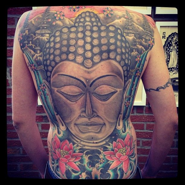 Awesome Tattooed Back Done At Moose Tattoo In Rotterdam
