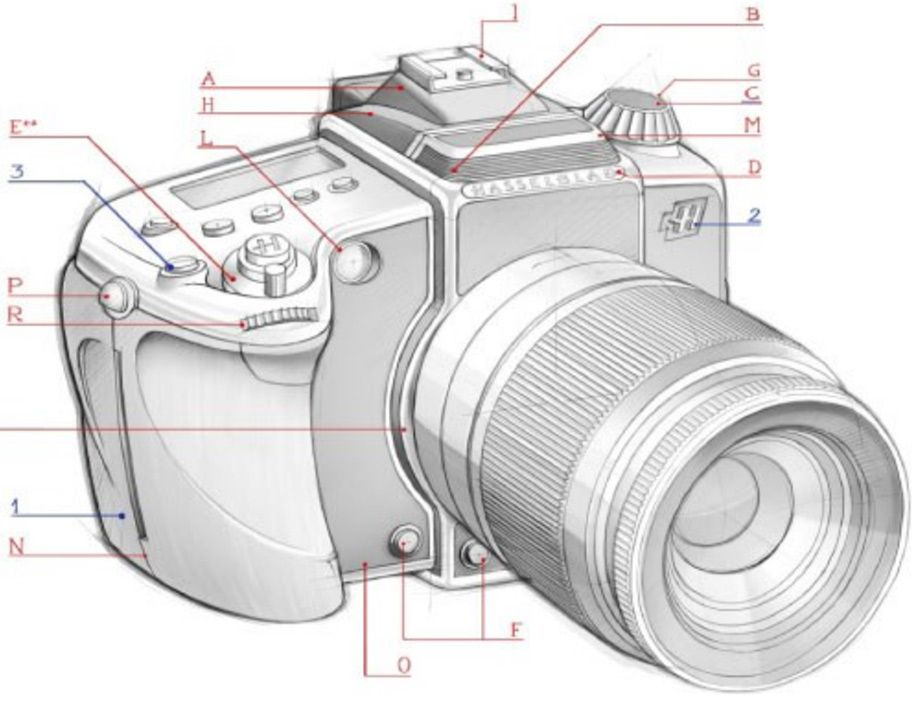 Hasselblad Working Also On A New A Mount Camera Camera Drawing Camera Illustration Camera Sketches