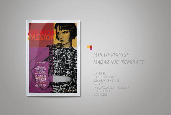Multipurpose Magazine Template | Template, Magazine layouts and ...