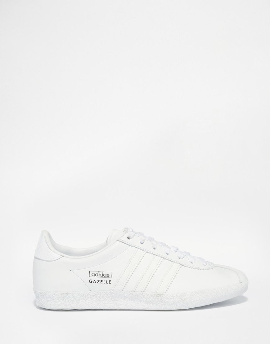 gazelle adidas mujer blancas