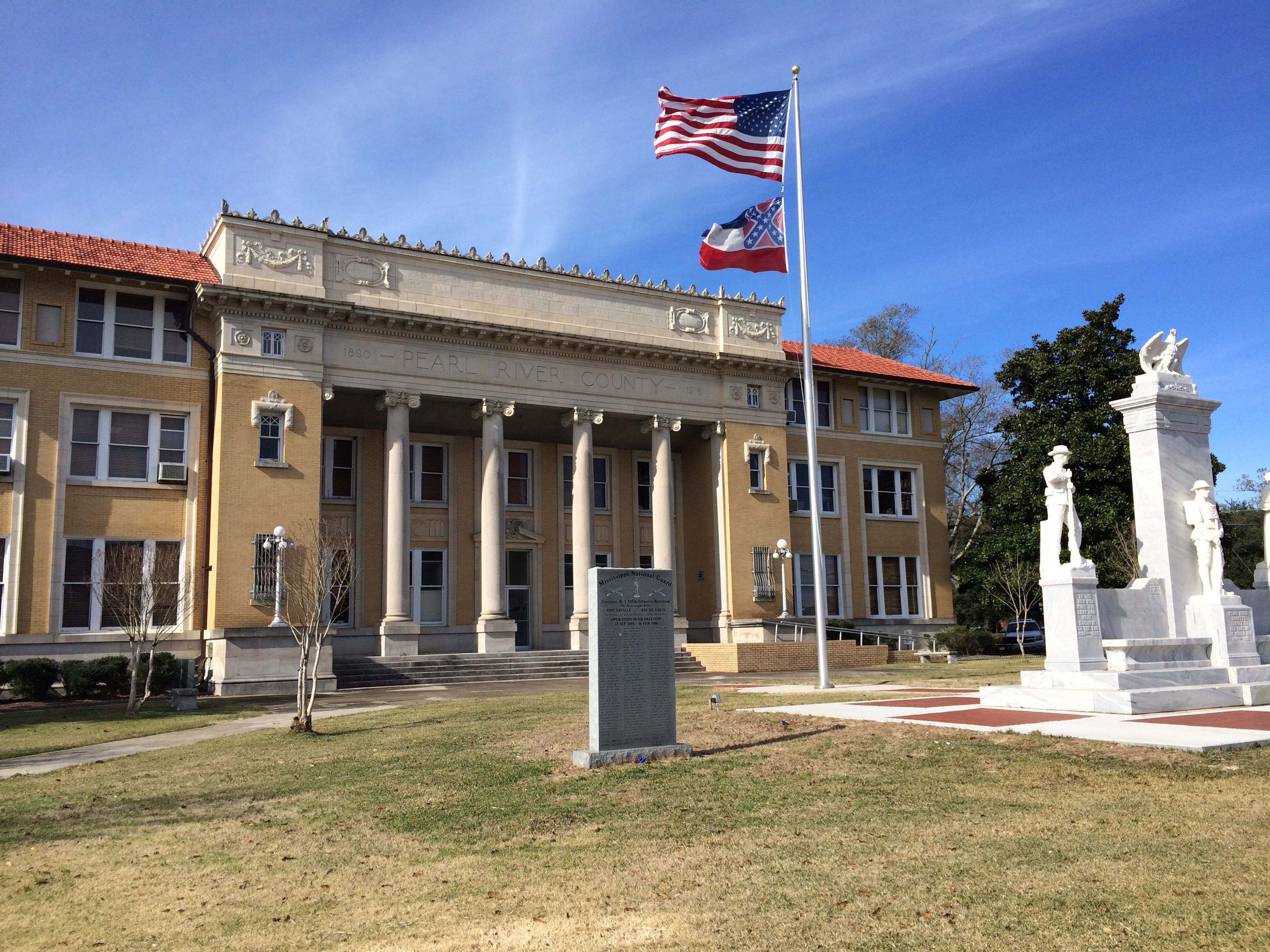 Pearl River County Courthouse Poplarville Ms Best Places To Live Pearl River House Styles