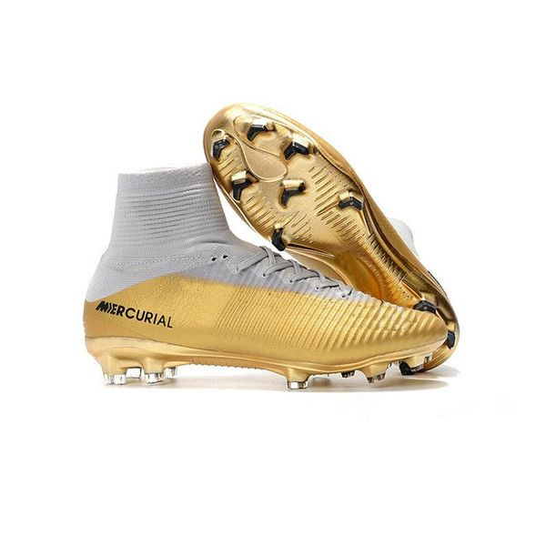 2019 Soccer Shoes Red Gold Cr7 Children Red Gold Cr7 Cleats Mercurial Superfly V Fg Kids Ronaldo Womens Footbal Football Boots Gold Football Boots Soccer Boots
