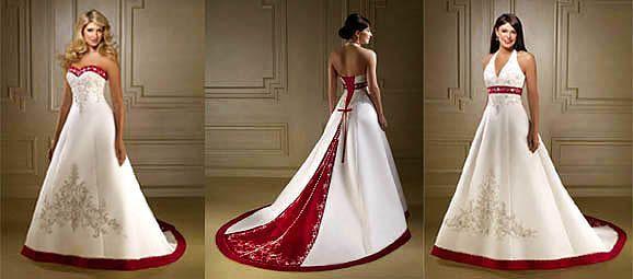 Hermoso traje detalle en rojo