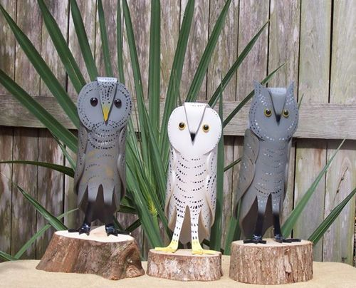 Nelson and Lorna Forest create these lovely bird sculptures from PVC pipe