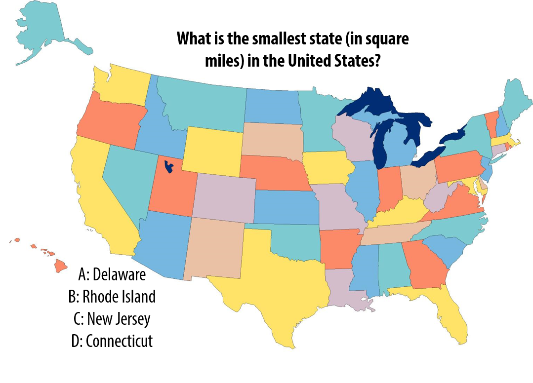 National Trivia Day Question What Is The Smallest State In - United states trivia