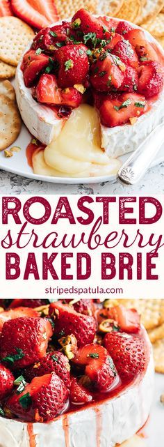 Photo of Honey-Balsamic Roasted Strawberry Baked Brie
