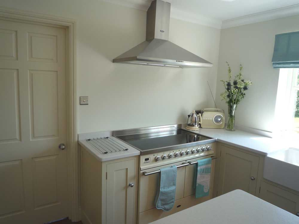 Kitchen Designs With Range Cookers. This small kitchen even has an island and is made light airy with white  granite Handmade KitchensRange CookerSmall