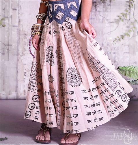Jak & Peppar Coronado Skirt in Tea Sand Motif - PREORDER