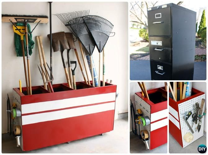 - DIY Garden Tool Organizer Storage Ideas Projects