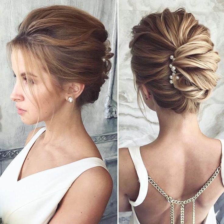 @lenabogucharskaya. Un elegante y moderno #peinado # cabello de novia # cabello de novia …