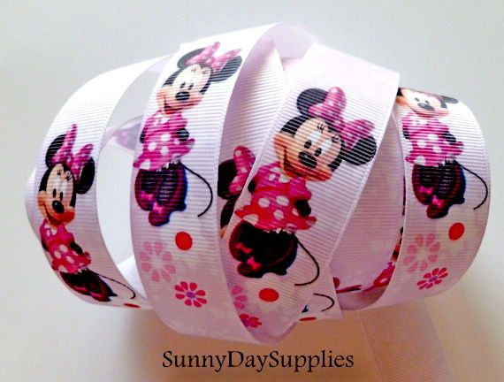 Hey, I found this really awesome Etsy listing at https://www.etsy.com/listing/165281290/disney-ribbon-minnie-mouse-grosgrain