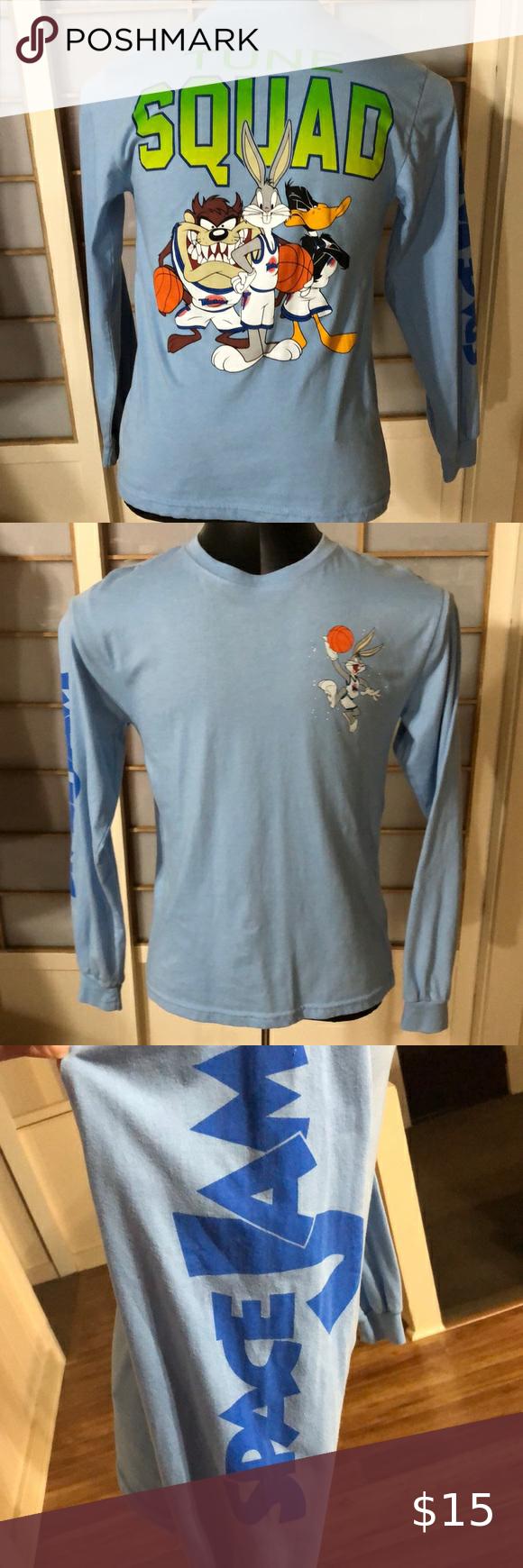 Space Jam Long Sleeve Shirt Long Sleeve Shirts Long Sleeve Sleeves