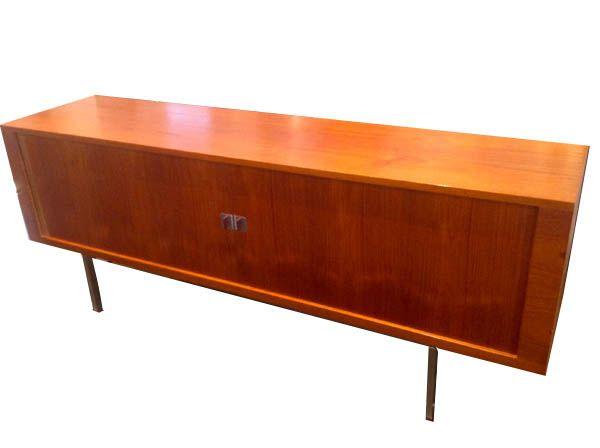 Post Modern Wood Furniture vintage hans wegner teak credenza @ post modern home in darien, ct
