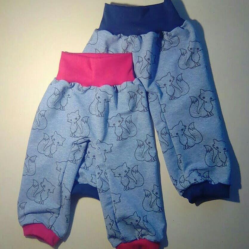 jeansblau für #Juge oder #Mädchen mit #Fuchs #Muster #Pumphose ...