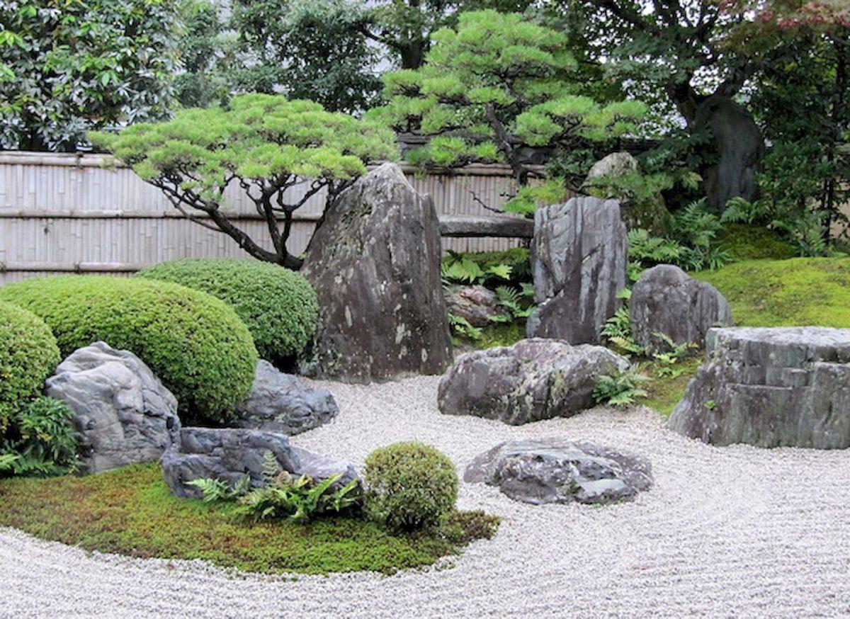Beautiful front yard rock garden landscaping ideas (68 ... on Zen Front Yard Ideas id=25747