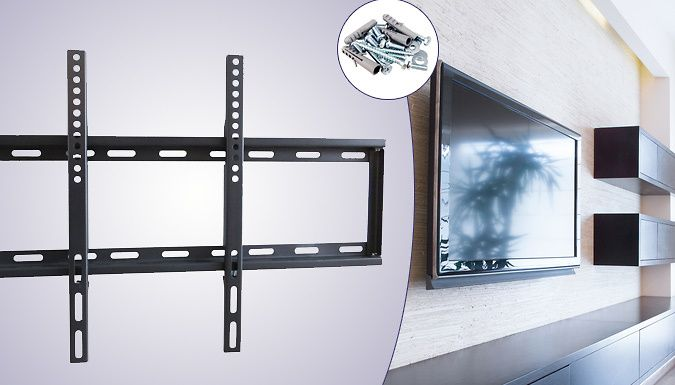 32 - 65inch Fixed Wall Mount Bracket Create a cinematic experience at home with the 32 - 65inch Fixed Wall Mount Bracket      Kit: hexagon wrenches, screws, wall anchors, screw wrench, screw nuts and washers      This bracket is made to fit 32 – 65inch 3D, LED, LCD and Plasma TVs      Crafted from durable and strong cold-rolled steel      Allows you to create the perfect viewing angles     ...