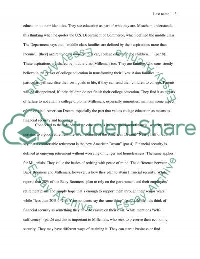 Example Swot Analysis Paper American Dream Personalized And Collectivized  Essay Example .