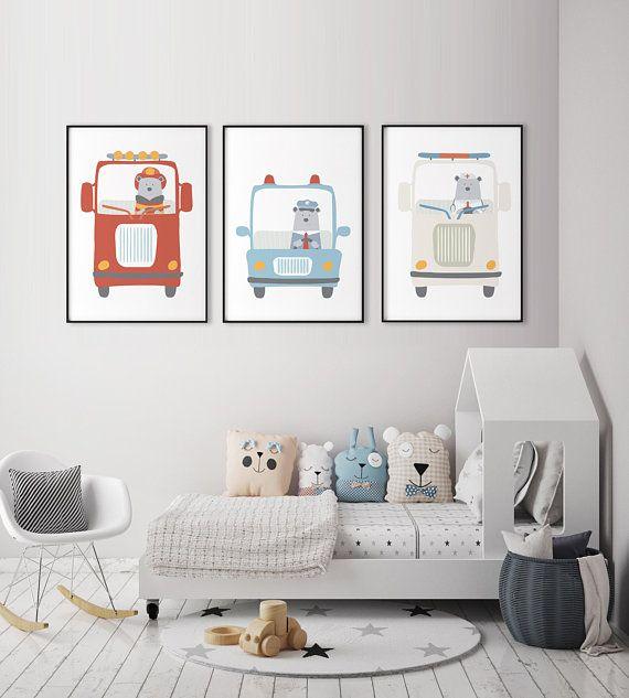 Boys nursery decor, Playroom decor, PRINTABLE art, Boys room wall