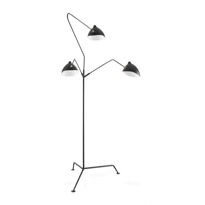 Mfl 3 style contemporary floor lamp black