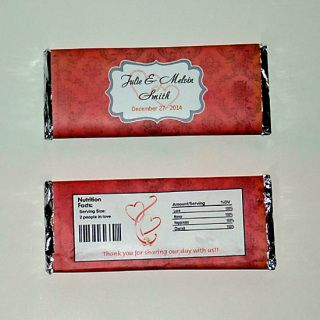 Damask Bridal Shower Favors ~ Personalized Candy Bar Wrappers fit the 1.55 oz Hershey/'s Bar ~ DIGITAL OR PRINTED