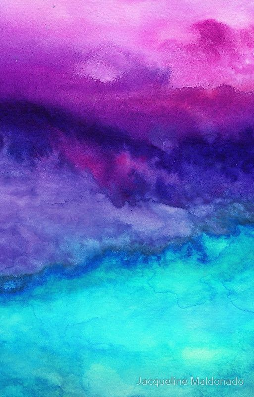 'The Sound - Abstract Ombre Watercolor' iPhone 11 - Soft by Jacqueline Maldonado