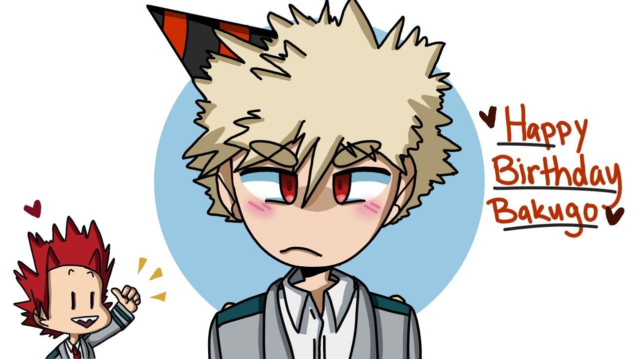 Happy Birthday Bakugo By Melon Doodles My Hero Happy Doodles