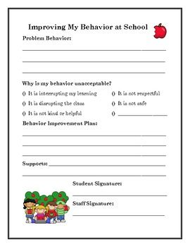 Behavior Improvement Worksheets  Worksheets Counselling And