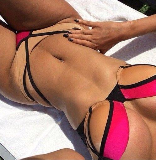 Aliexpress.com   buy 2015 sexy women bikinis set rope top thong style ultra  low rise bottom white brazilian bikini vintage strappy swimwear swimsuit  from ... 26e22174d