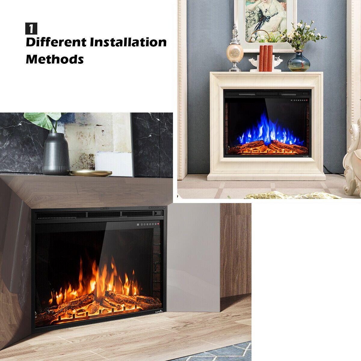 36 Elektrokamineinsatz Standofenheizung Electric Fireplace Freestanding Stove Fireplace