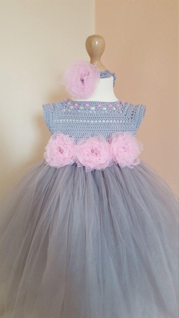 Tutu vestido flor venda vestido de ganchillo ganchillo   Crochet ...