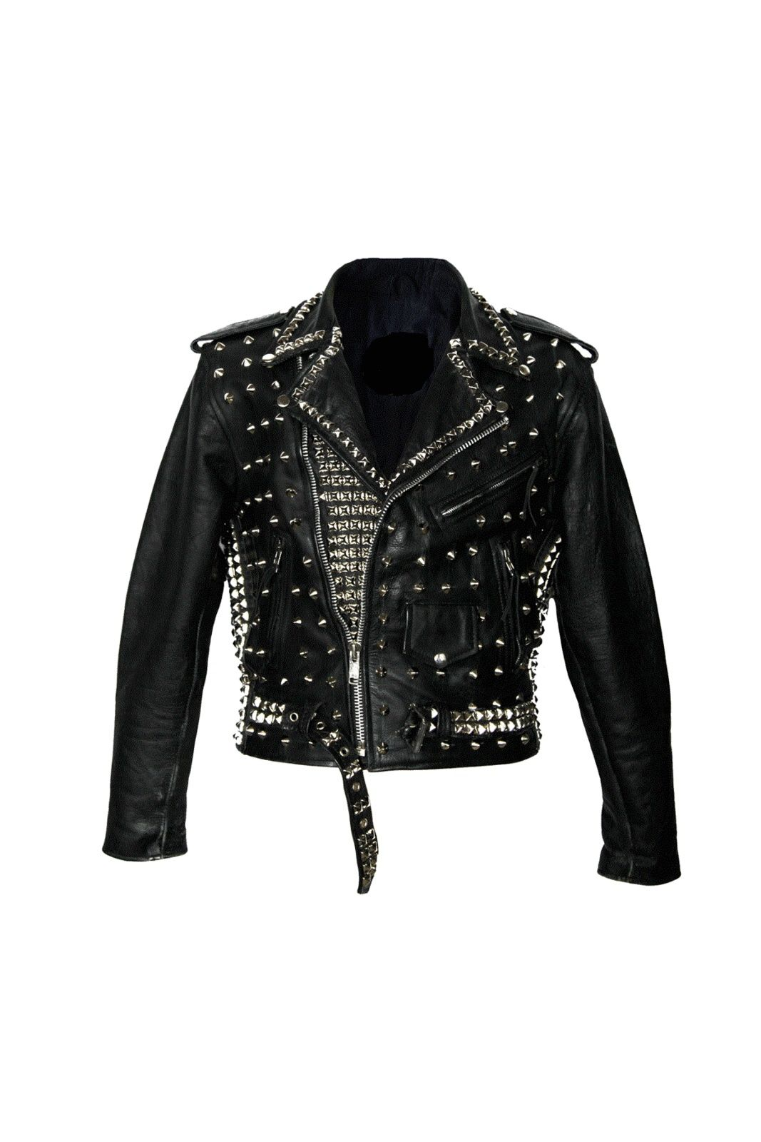 Handcrafted Women S Black Studded Cowhide Leather Jacket Leather Jacket Womens Fashion Jackets Jackets