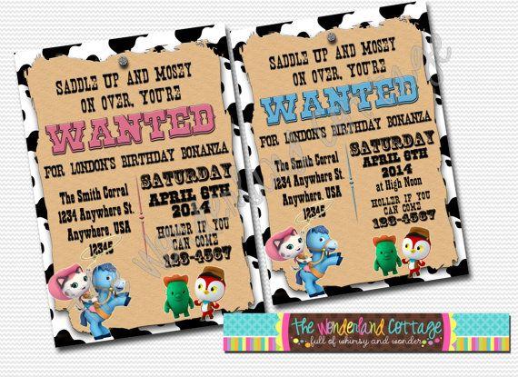 Disney Sheriff Callies Wild West Invitation Lynettes 3rd