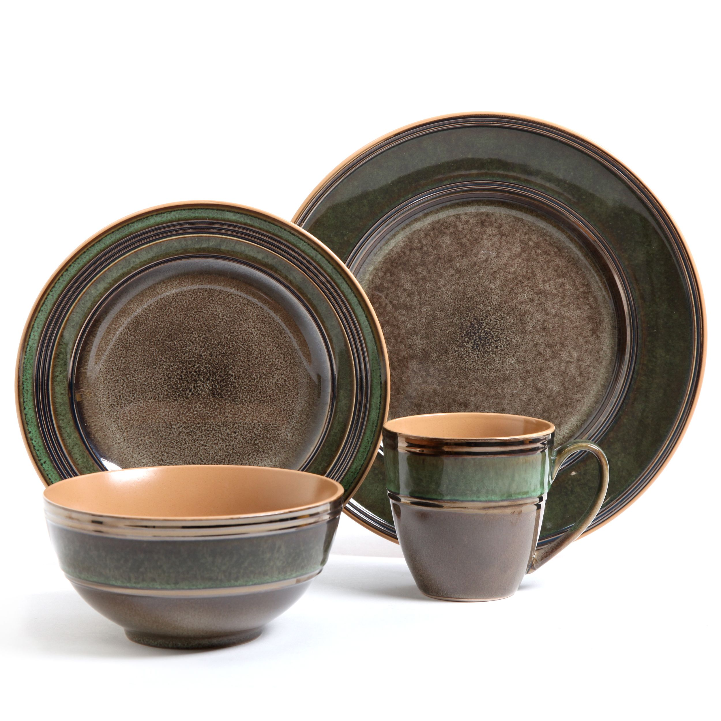 The Marmara Park dinnerware set from Gibson Elite features a contemporary design in earthy brown and  sc 1 st  Pinterest & The Marmara Park dinnerware set from Gibson Elite features a ...