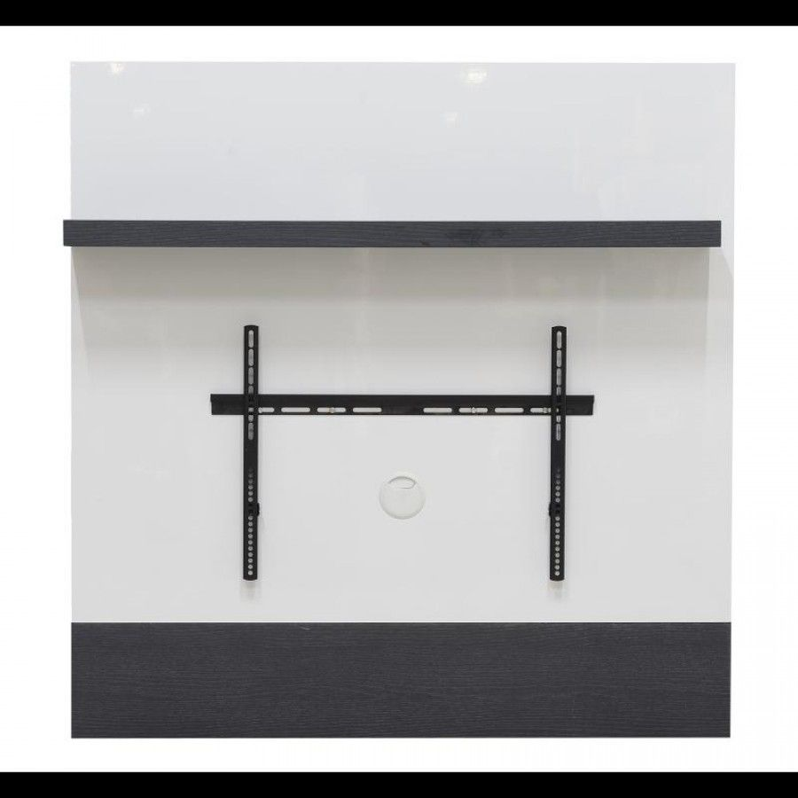 Wall Mounted Tv Unit With Bracket And Shelf Grey White Gloss Qu011  # Muebles Favatex