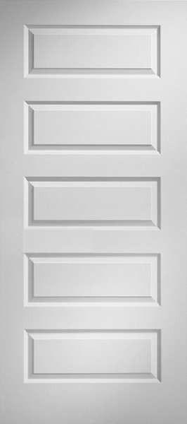 Mldroc Jeld Wen Rockport 5 Panel Smooth Solid Core Interior Molded Door C 1 3 8 Doors Interior Wood Doors Interior Prehung Interior Doors