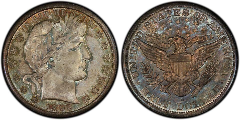1892 Micro o Barber Half