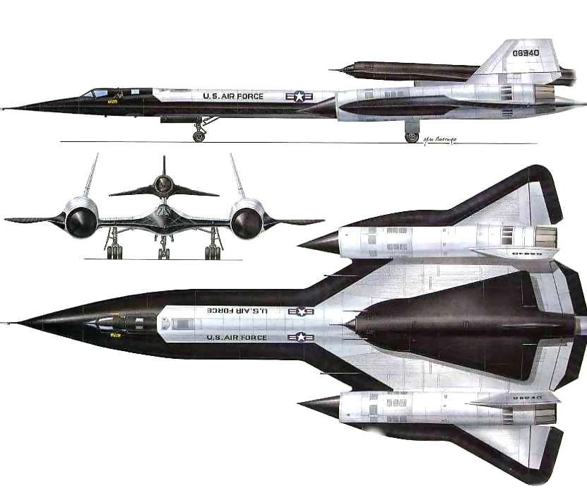 Planes  Lockheed YF-12A \ SR-71A  - copy blueprint engines bp3501ctc1