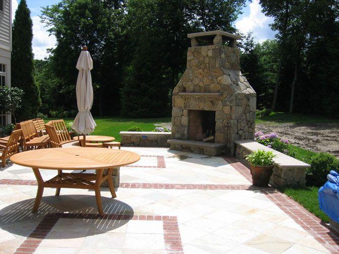 Amazing Nice Corner Outdoor Fireplace #2 Outdoor Corner Fireplace Designs