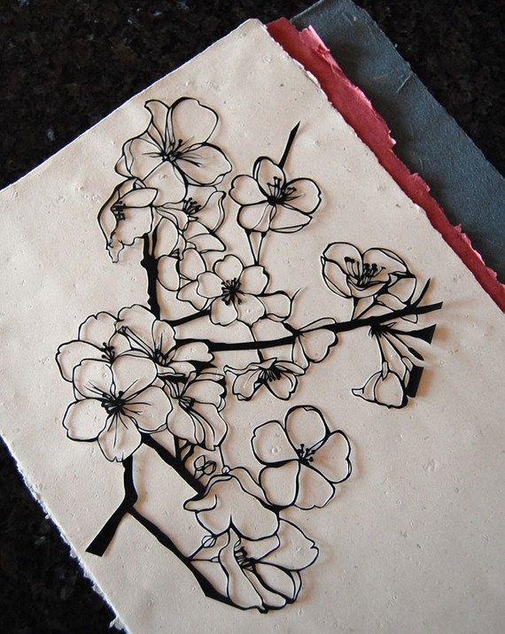 Cherry Blossom Papercut 10000