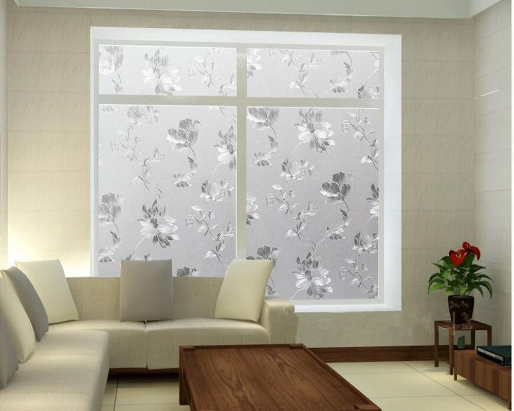 Frosted Decorative Self Adhesive Window Films Pvc Privacy Opaque